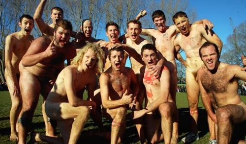 Annual Nude Rugby Game in Dunedin
